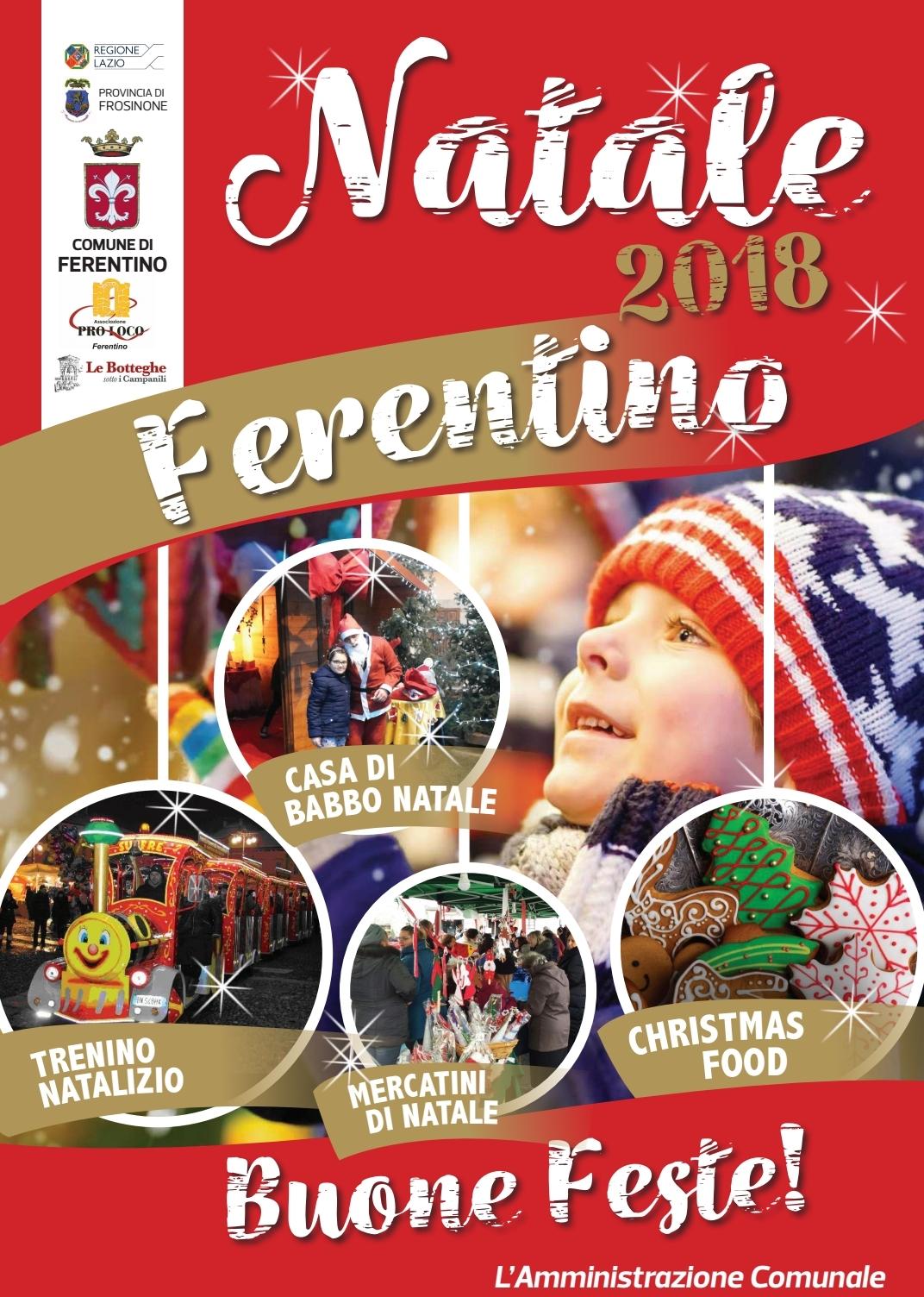 Immagini Natalizie Word.Natale 2018 A Ferentino Ferentino