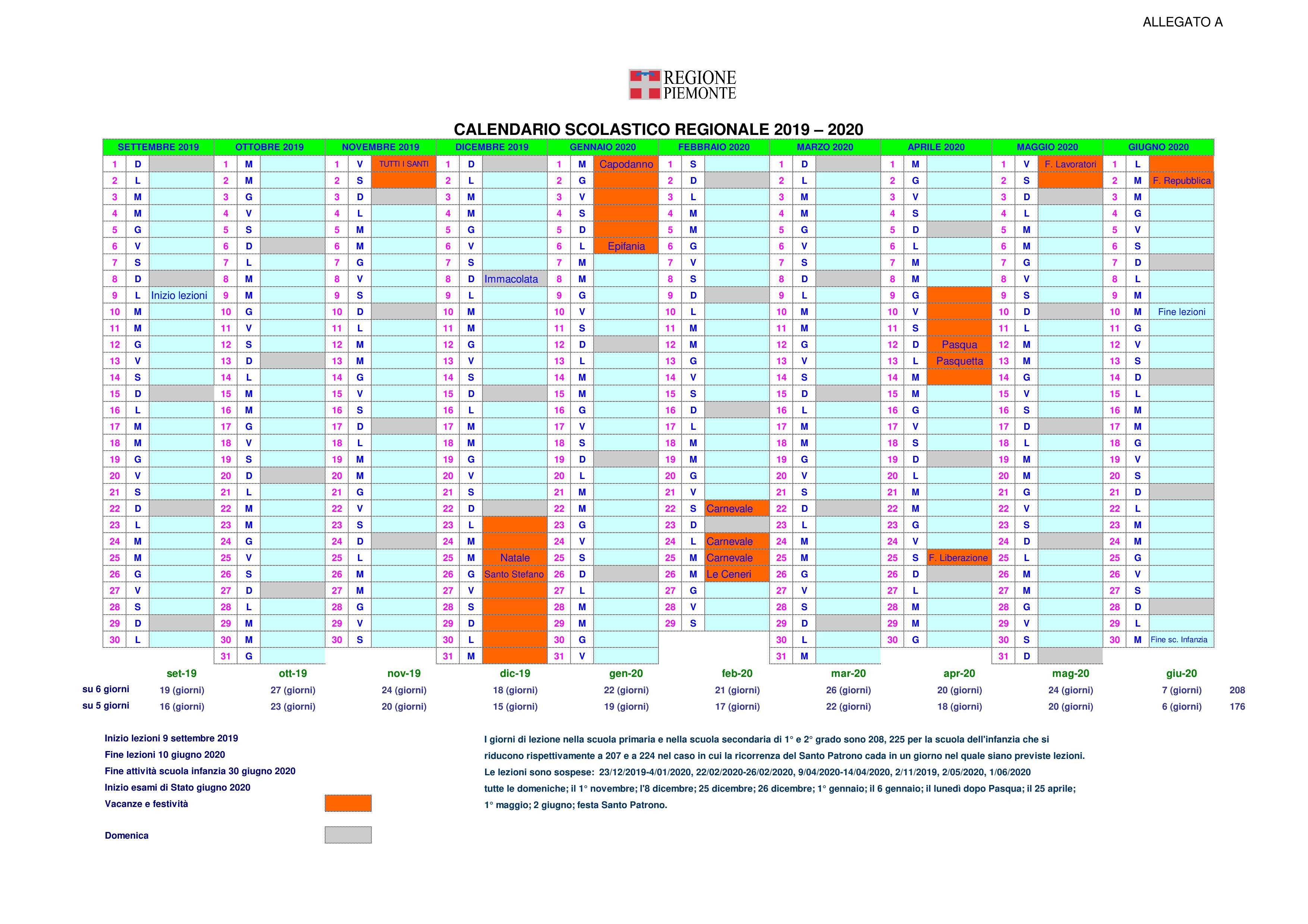 Calendario Vacanze Scolastiche 2020 Veneto.Calendario Scolastico 2019 2020 Pomaretto